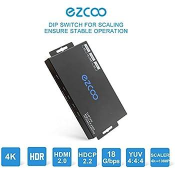 Amazon com: EZCOO HDMI 2 0 Splitter 1x4 4K 60Hz HDR Dolby