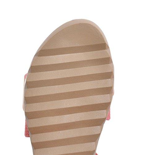 Tamaño Primavera Blue de AIKAKA Antideslizantes Mujer Gran Zapatos de Planas Sandalias Verano fZxHq7PxSw