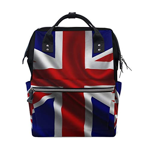 Backpack Best British Flag Womens Laptop Backpacks Hiking Bag Travel Daypack ()