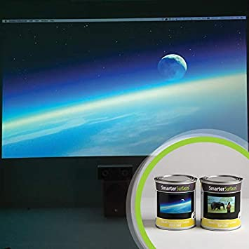 Smart Projektor Farbe Kontrast 6m² Grau Beamer Amazonde