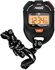 Adanac Professional Stopwatch Timer - Digital Blacklight Display with Grip Buttons | Waterproof Dust Shock Res
