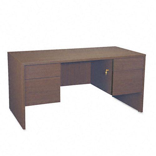 Global G3060DPMAF Genoa Series 60 by 30 by 29-Inch Double Pedestal Desk, (Global Genoa Series)