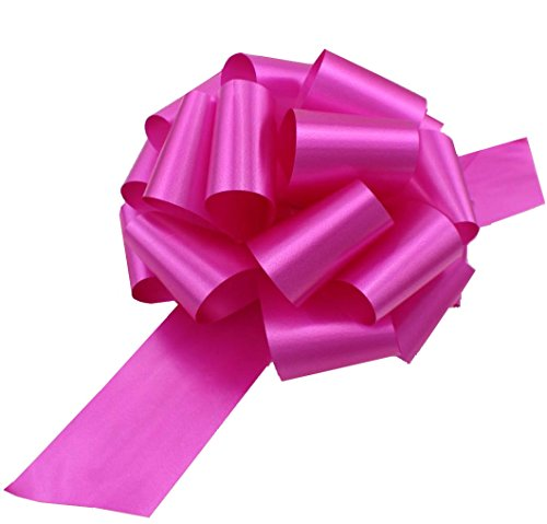 Large Hot Pink Fuchsia Pull Bows - 9