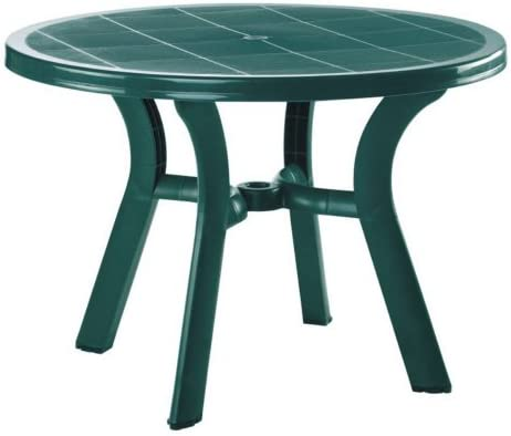 Compamia Truva Resin Round Dining Table 42 Inch 29 H x 42 W x 42 D Green