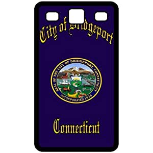 Bridgeport Connecticut CT City State Flag Black Samsung Galaxy S3 i9300 Cell Phone Case - Cover