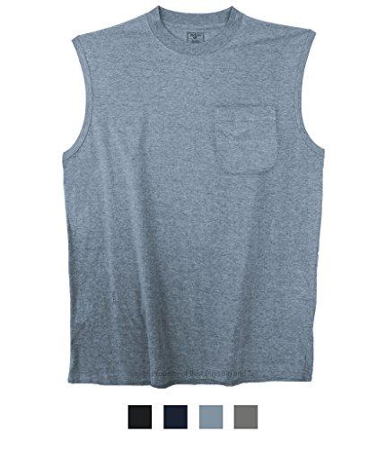 - Best Buys Big & Tall Foxfire Pocket Muscle Tee Heather Blue 5XLT #501D