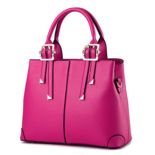 - Cherryi Bags for Woman Elegant Classic Fashion Ladies Occident Style Handbags Solid Color,Rose