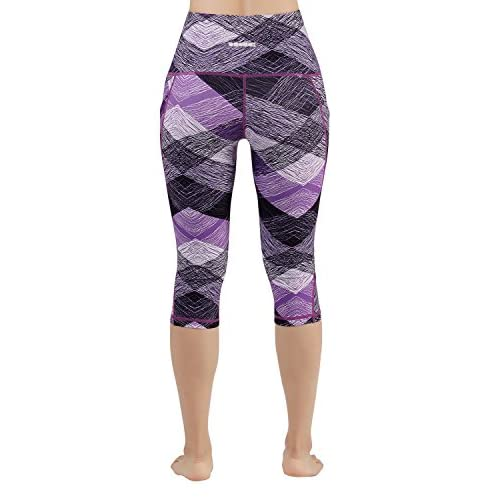 0721e36338bceb ODODOS High Waist Out Pocket Printed Yoga Pants Tummy Control Workout  Running 4 Way Stretch Yoga