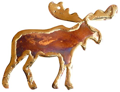 Handmade Moose Copper Christmas Ornament & Copper Made in USA. Nice Rustic Home & Office Decor or Friendship Gift by Keweenaw Gem & Gift