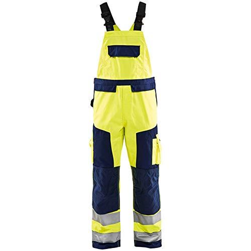 43S UK Blaklader Workwear Bib Trouser Yellow//Black D112
