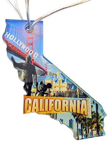 Westman Works California Christmas Ornament Acrylic State Shaped Decoration Boxed Gift Made in The - Ornaments California