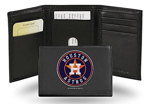 Houston Astros Embroidered Logo Genuine Leather Tri-Fold Wallet