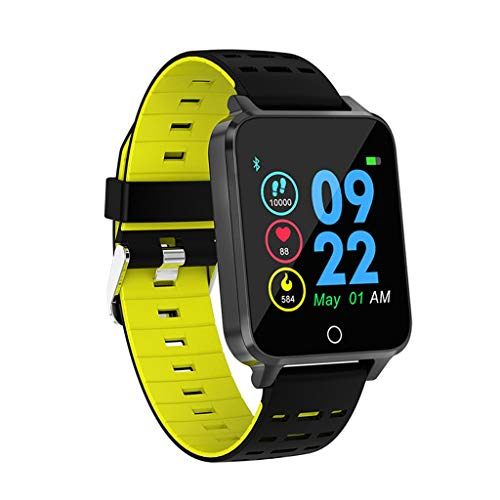 X9 1.54Inch Color Full Screen IP68 Waterproof Heart Rate Monitor Smart Watch, All-Day Heart Rate and Activity Tracking, Sleep Monitoring, GPS, Ultra-Long Battery Life (Green, 43.5x37x13MM) ()