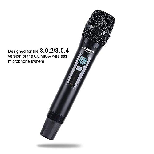 Comica UHF 96-Channel Single Wireless Handheld Transmitter for WM300 Microphone System Connect XLR Camcorder Camera & Smartphone(394-Foot Range) (Version 3.0.2/3.0.4 of Receiver Available)