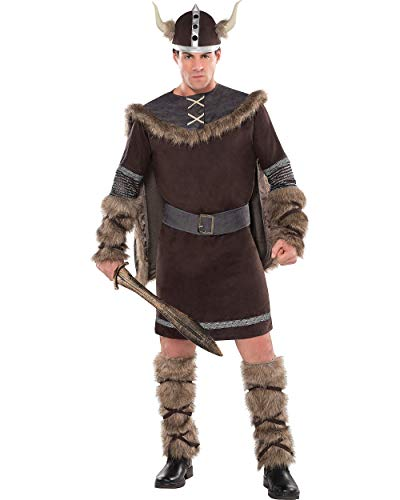 AMSCAN Viking Warrior Halloween Costume for Men, Plus Size, with Included Accessories]()