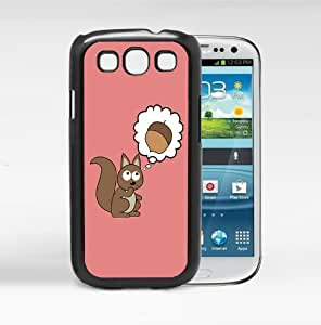Cute Squirrel Thinking About Nuts with Light Pink Background Hard Snap on Cell Phone Case Cover Samsung Galaxy I9300 (s3)
