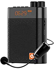 BKPP Draagbare persoonlijke waterdichte spraakversterker en recorder met microfoon, luide en heldere geluidsversterker, 3500 mAh 5 W, max. 21 uur amplificeren tijd of 10 uur muziekspeeltijd.
