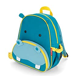 Skip Hop Zoo Pack Little Kid Backpacks, Hippo