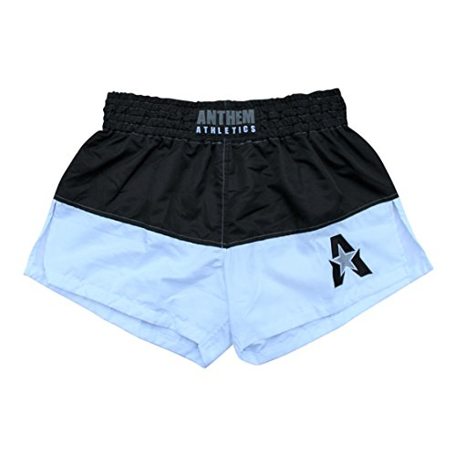 Anthem Athletics NEW 50/50 Muay Thai Shorts - Kickboxing, Thai Boxing - Black & White - Medium