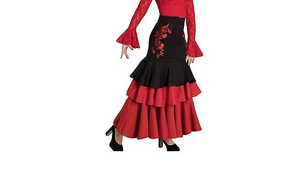 Anuka Falda de Mujer para Danza Flamenco o sevillanas: Amazon.es: Ropa y accesorios