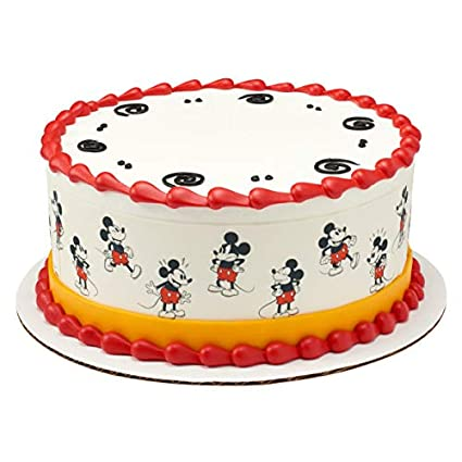 Amazon Vintage Mickey Mouse Cake Border Side Strips Edible