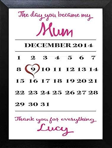 The Day You Became My Mum Mothers Day Keepsake Personalised Wall Print