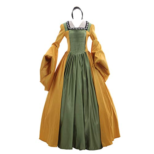 1791's lady Medieval Renaissance Dress Anne's Yellow Gown XL -