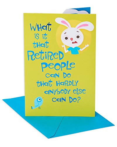 American Greetings Funny Monday Mornings Retirement Congratulations Card with Glitter