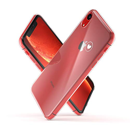 AMSOFINE iPhone XR Bumper case, Slim and Thin Shock Absorbing Sturdy and Durable Transparent Crystal Case Designed for iPhone XR