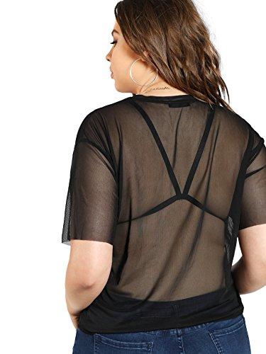 Buy sheer tops for women plus size