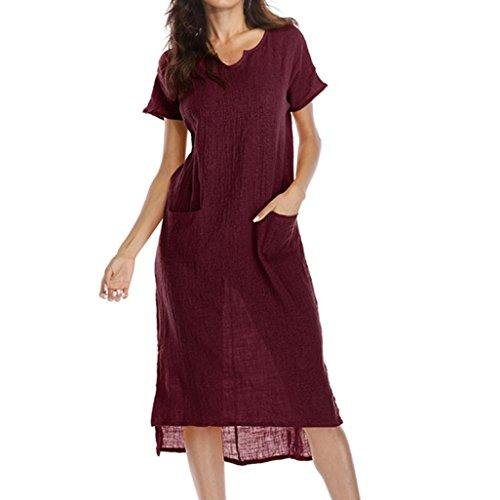 La mujer vestido,Sonnena ❤️ ❤️ ❤️ Bohemian blanco impresión hueca de encaje vestido Suelto suave vestido de manga corta para sexy mujer casual ropa al aire libre de Verano Wine