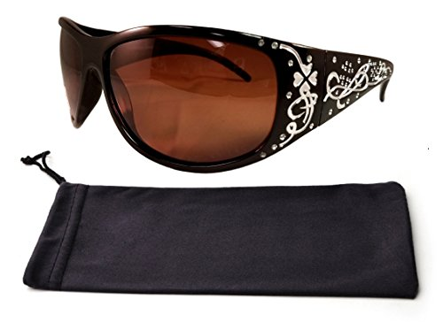 Best Black Frame Brown Boho Full Coverage Oval Rectangle Squarish Lens Driving Bling High Fashion Rayband Sunglasses Clearance Gift Idea for Sale Women Teen Girl (Black Polarize - Raybands Sunglasses