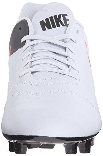Nike Herren Tiempo Genio II Leather FG Fußballschuhe Weiß (Pure Platinum/Black-Hypr Orng 001)