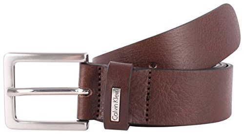 Calvin Klein Mens Mino 3 Leather Belt - Brown - Extra Small