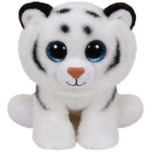 Ty Classic Beanies Tundra the white tiger 25cm Medium Buddy Size 9