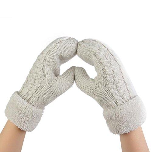 診療所既に破壊ルテンズ(Lutents)レディース 冬 可愛い 厚手 女性防寒手袋 運転運動にも あったか 女の子 指穴 きれいめ 防寒手袋 冬小物 ニット手袋 手ぶくろ 可愛い 韓国風 プレゼント