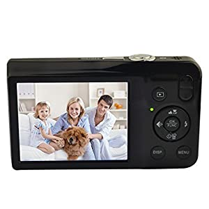 Digital Camera,KINGEAR V100 2.7 Inch TFT Color LCD Screen 15MP 720P HD Anti-shake Smile Capture Digital Video Camera with 5X Optical Zoom 4X Digital Zoom - Black from Digital Camera