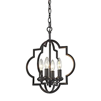 Elk 31812/4 Chandette Pendant, 4-Light 240 Total Watts, Oil Rubbed Bronze
