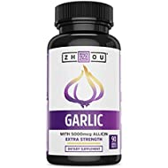 Extra Strength Garlic with Allicin - Powerful Immune System Support Formula - Enteric Coated Tablets for Easy Swallowing - Feel the Allicin Difference - 3 Month Supply