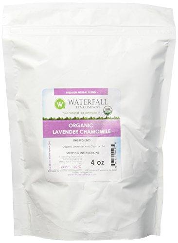 Waterfall Tea Company Organic Lavender Chamomile Herbal Blends, 4 Ounce
