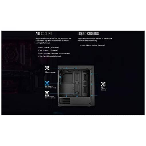 Aerocool BOLT - Caja de PC, ATX, Ventana Total, RGB 13 modos, ventilador 12cm 4