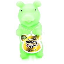 Animolds Green Glow In The Dark Squeeze Me Gummy Piggie