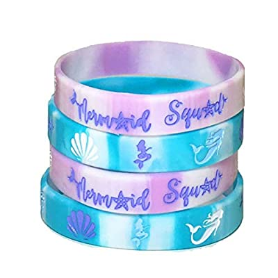 20 pcs mermaid party favors wristband, under the sea party favors, birthday jewelry toy party supplies cute pinata filler halloween. (mermaid, kids): Health & Personal Care