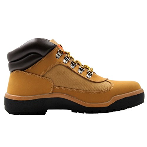 Parrazo Pulaski Men's Winter Insulated Water Resistant Snow Lace Up Oxfords Field Hiking Work Boots (10.5 D(M) US, Tan-PK) (Mens Waterproof Field Boot)
