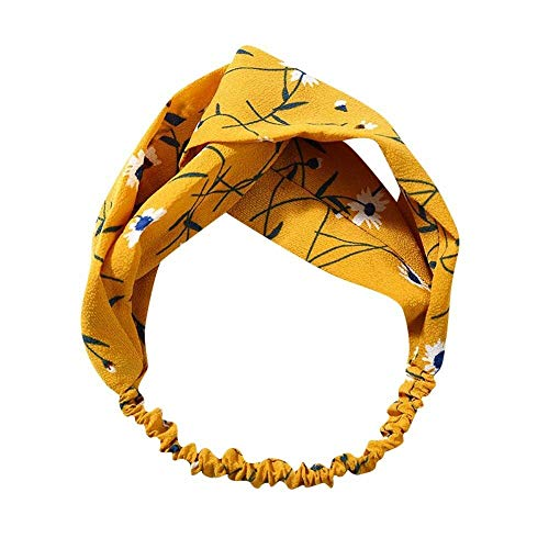 - Fashion Women Turban Twist Knot Headwrap Twisted Knotted Elastic Hairband (Main Colour - A)
