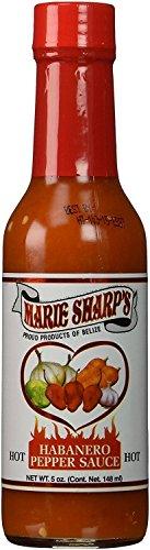 Marie Sharp's Hot Habanero Sauce 5 oz. (Pack of 6)