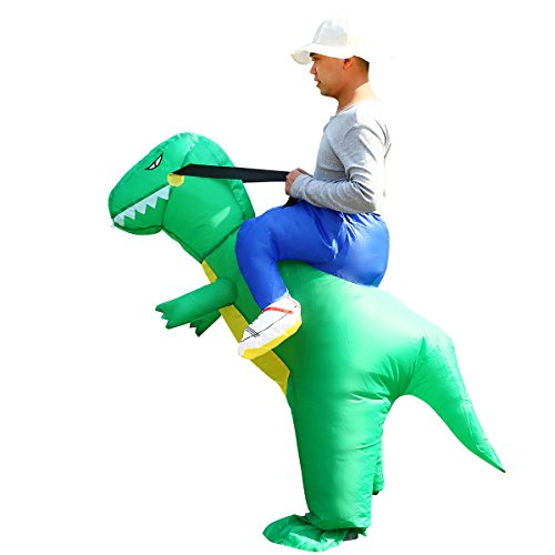 Blow Up Inflatable T-Rex Dinosaur Costume Unisex Adults Fancy Dress Animal Outfit