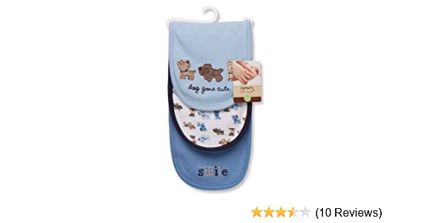 Amazon.com: Carters 3 Piece Burp Cloth, Dog Gone Cute (Discontinued by Manufacturer): Baby