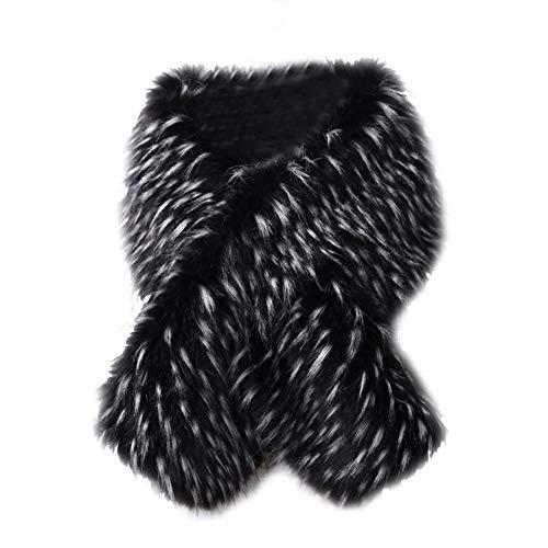 Koerim Cape Faux Shawl Invierno Cálido Chaqueta E Mujer Abrigo Shrug Fox Fur ErEnxzwq61