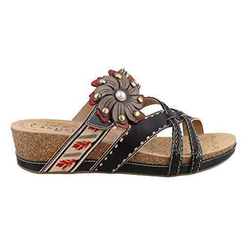 (L'Artiste by Spring Step Women's DEONNA Sandals, black/multi, 41 M EU (US 9.5-10))